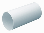Domus Easipipe Rigid Duct 125mm 2M Length 2M White