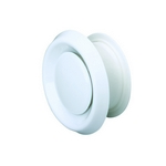 Domus Easipipe Rigid Duct 125mm Air Valve Extract Or Supply Suspended Ceiling White