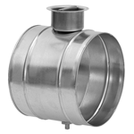 Galvanised Single Blade Damper Unit - 125mm