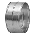 Galvanised Male-Male Duct Coupling connector - 100mm
