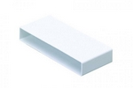 Domus Pv Low Profile 225 Rigid Duct 234X29mm Straight Connector White