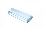 Domus Pv Low Profile 225 Rigid Duct 234X29mm 45 Vertical Bend White