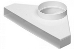 Domus Rigid Duct 234X29-100mm Plenum Fixed Spigot (Air Valve Adapter) White