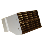 SYSTEM 220x90 DOUBLE AIRBRICK ADAPTER WITH FITTED GRILLES - BROWN