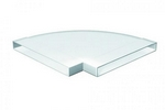 Domus Pv Low Profile 300 Rigid Duct 308X29mm 90 Horizontal Bend White