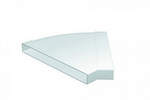 Domus 308X29mm 45 Degree Horizontal Bend White Pv Low Profile 300 Rigid Duct