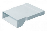 DOMUS PV LOW PROFILE 300 RIGID DUCT 204X60-308X29MM IN-LINE ADAPTER RECTANGULAR-RECTA...