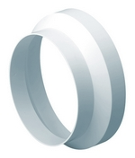 Domus Rigid Duct 110-100mm In-Line Adapter Round-Round White