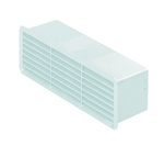 Domus Supertube Rigid Duct 204X60mm Outlet Airbrick With Damper White