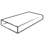 Domus Supertube Rigid Duct 204X60mm 1M Length White