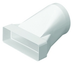 Domus Rigid Duct 204X60-125mm In-Line Adapter Round-Rectangular White