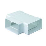 Domus Supertube Rigid Duct 204X60mm Horizontal T Piece White