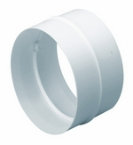 Domus Easipipe Rigid Duct 125mm Straight Connector White