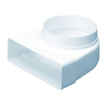 Domus Rigid Duct 204X60-150mm Plenum Fixed Spigot White