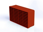 Domus Rigid Duct 235X141mm Double Outlet Airbrick Terracotta