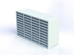 Domus Rigid Duct 235X141mm Double Outlet Airbrick White