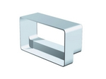 Domus Rigid Duct 220X90-204X60mm In-Line Adapter Rectangular-Rectangular White