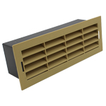204 X 60MM AIRBRICK WITH SURROUND BEIGE