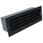 204 X 60MM AIRBRICK WITH SURROUND BLACK