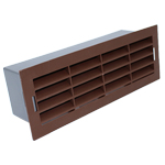 204 X 60MM AIRBRICK WITH SURROUND BROWN