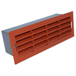 204 X 60MM AIRBRICK WITH SURROUND TERRACOTTA