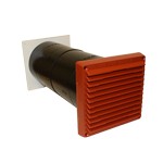 RYTONS 125MM AIRCORE WITH LOOKRYT LOUVRE - TERRACOTTA