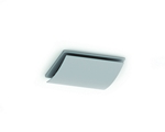 Domus 100mm Architectural Room Terminal Curved Silver