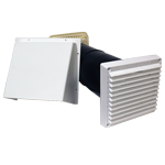 RYTONS 125MM BAFFLED COWLED AIRCORE WITH LOOKRYT LOUVRE - WHITE