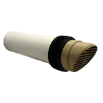 System 100 Beige Round Core Drill High Rise Ducting Ventilator (117mm Core Hole Requi...