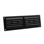 RYTONS 9X3 LOUVRE VENTILATION GRILLE WITH FLYSCREEN - BLACK