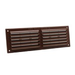 RYTONS 9X3 LOUVRE VENTILATION GRILLE WITH FLYSCREEN - BROWN