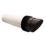 DUCVVK200-Br System 100 Brown Round Core Drill High Rise Ducting Ventilator (117mm Co...