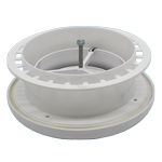 Kair Plastic Round Ceiling Vent 100mm 4 inch Diffuser / Extract Valve with Retaining Ring
