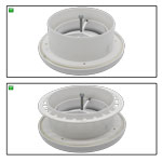 Kair Plastic Round Ceiling Vent 125mm 5 inch Diffuser / Extract Valve with Retaining Ring