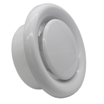 Kair Plastic Round Ceiling Vent 150mm - 6 inch Diffuser / Extract Valve with Retaining Ring