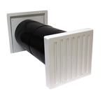 COWLED 150MM BAFFLED AIRCORE W/HIT&MISS-WHITE-LIGHT+DRAFT