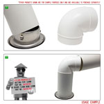 Kair Ceiling Valve 125mm - 5 inch Stainless Steel Adjustable Supply and Extract Vent