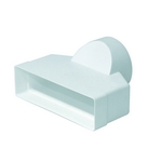 Domus Rigid Duct 204X60-100mm In-Line Adapter Round-Rectangular White