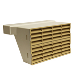 System 225 Double Airbrick Adapter With  Beige Grille