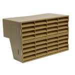 Double Air brick Adapter With Beige Fitted Grilles System 204
