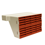SYSTEM 225 DOUBLE AIRBRICK ADAPTER WITH TERRACOTTA GRILLE