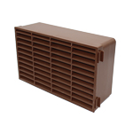 Double Airbrick - Plastic - Brown