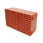 Domus Megaduct 220 x 90mm Double Air brick - Plastic - Terracotta