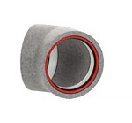 Kair Self-Seal Thermal 160mm Dia 45 Degree Bend Complete With Female Click And Lock F...