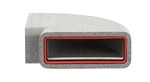 KAIR SELF-SEAL THERMAL 220X90MM HORIZONTAL 90 DEGREE BEND COMPLETE WITH FEMALE CLICK AND LOCK FITTINGS