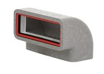 KAIR SELF-SEAL THERMAL 220X90MM VERTICAL 90 DEGREE BEND COMPLETE WITH FEMALE CLICK AND LOCK FITTINGS