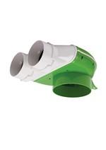 Kair 75mm Radial Ducting Plenum Bend - 90 Degrees