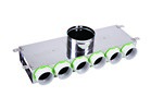 Kair 6 Port Acoustic Manifold Box With 150mm Main Branch And 6 X 75mm Radial Connecti...