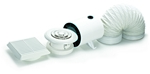 Domus Dvf Axial In-Line Shower 100mm Timer With Duct Kit Fan White