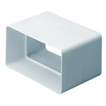 Domus Supertube Rigid Duct 204X60mm Straight Connector White